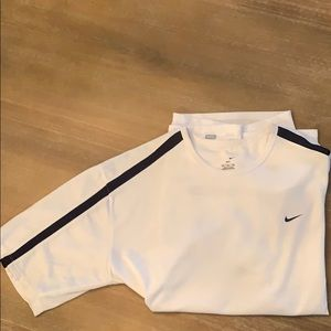 Men's Nike White DRIFIT Workout Shirt, Size XL